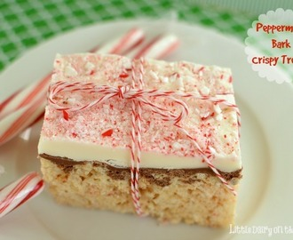 Peppermint Bark Crispy Treats