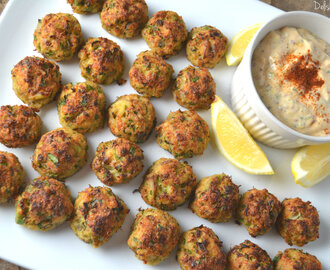 Baked Crab Cake Bites with Lemon Remoulade