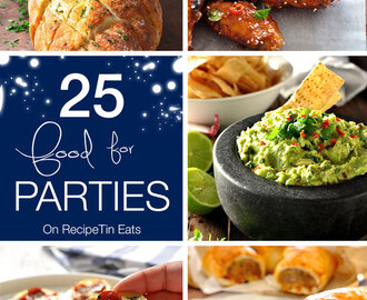 25 Party Food Recipes