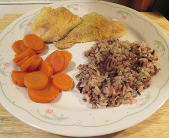 Seasoned Haddock w/ Multi Grain Medley and Sliced Carrots