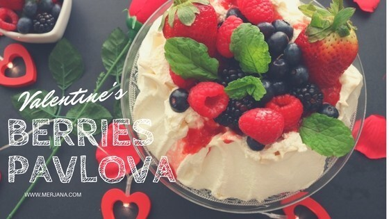 Pavlova with mixed berry for my Valentine!