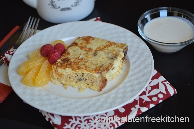 Panettone French Toast with Orange Yogurt Sauce