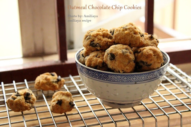 Oatmeal chocolate chip cookies 燕麦巧克力豆曲奇