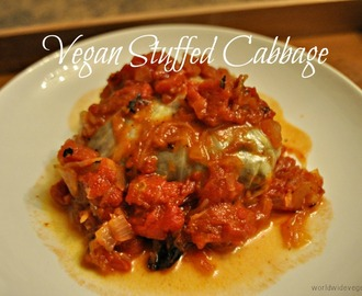 Meatless Monday: European Style Lentil Stuffed Cabbage