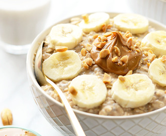 VIDEO: Peanut Butter Banana Overnight Oats
