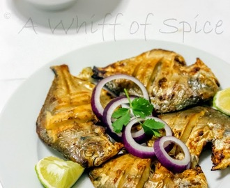 Bye Bye 2014 with a Delicious Tangy Oven Grilled Pomfret Fish
