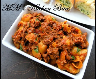"Keema pasta...the ""well cooked"" Indian style!!"