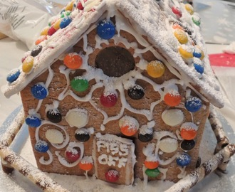 Gingerbread House with 'Glass' Windows (and Light)
