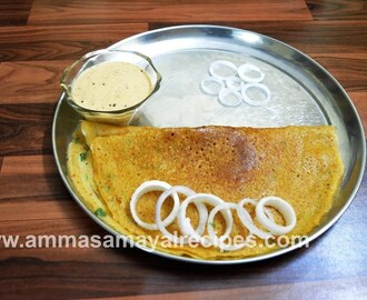 Pineapple Dosa | groundnut chutney | Pineapple Dosai | Breakfast Menu - 14