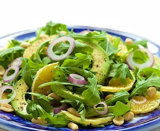 Orange and Avocado Salad with Peanut-Hoisin Dressing