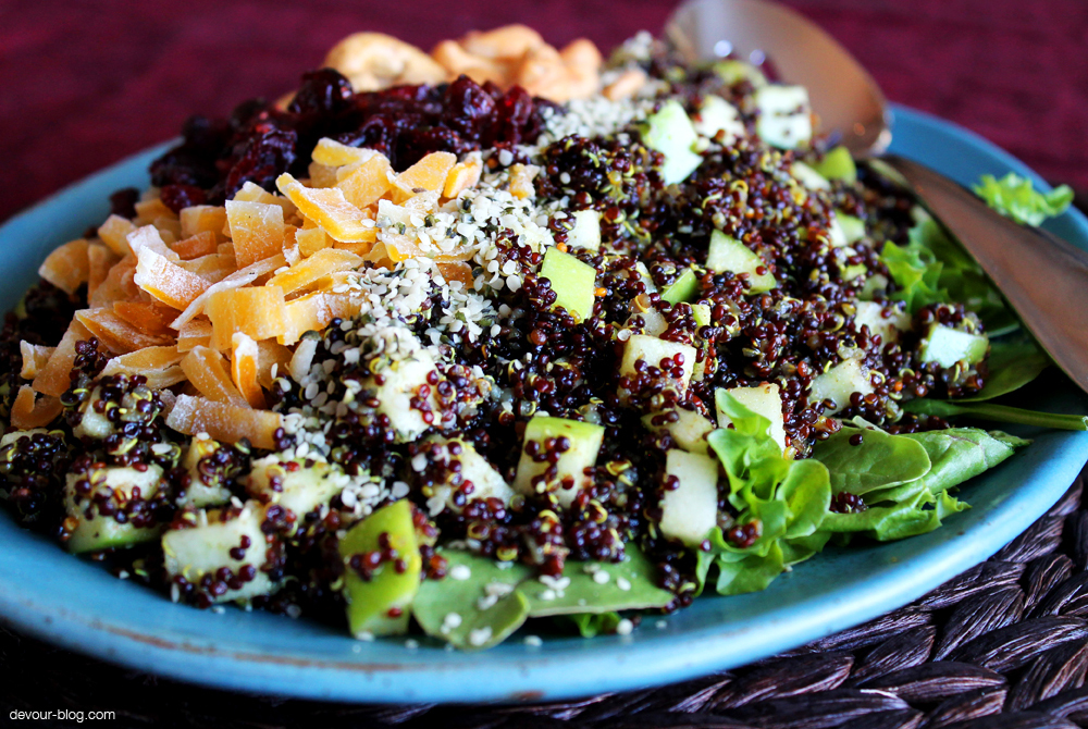 Curried Quinoa Salad with Dried Fruit and Cashews