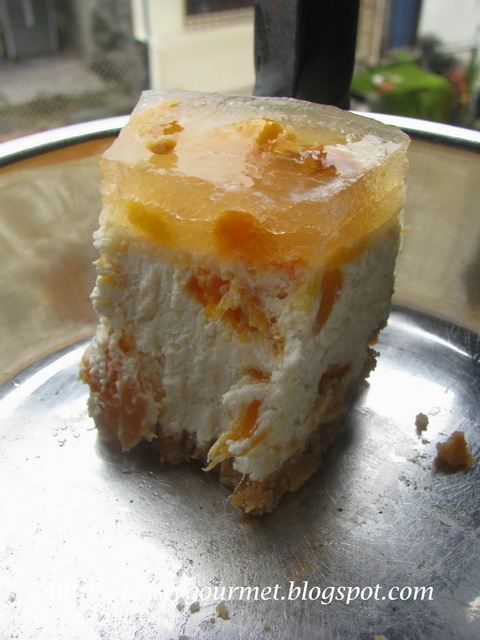 No Bake Cempadak Cheesecake 波罗蜜菜燕乳酪蛋糕