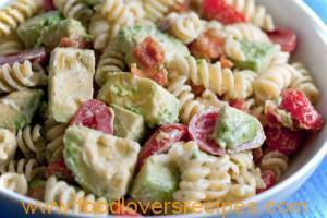 BACON, AVOCADO, TOMATO PASTA SALAD