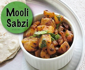 Mooli Sabzi Recipe - How To Make Mooli Sabzi