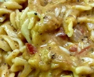 Red Creamy Pasta In White Sauce