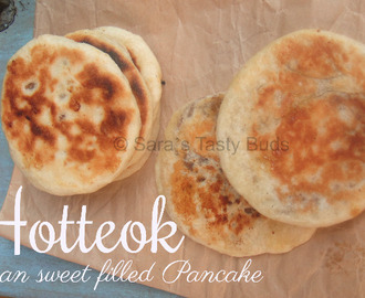 Hotteok (호떡)- Korean Sweet  Pancake#BreadBakers