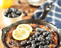 Blueberry Lemon Dutch Baby Pancake #BreadBakers