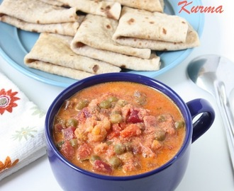 Mix Vegetable Kurma | Vegetable Kurma | Side dish for roti