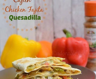 Cajun Chicken Fajita Quesadilla
