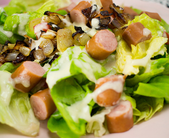 Low Carb Hot Dog Salat