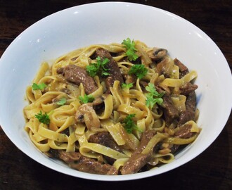 Syn Free Tagliatelle with Steak & Mushroom Sauce | Slimming World