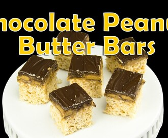 Chocolate Peanut Butter Bars: No Bake from Cookies Cupcakes and Cardio