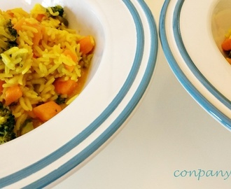 Arroz basmati con leche de coco y boniato / Basmati rice with coconut milk and sweet potato