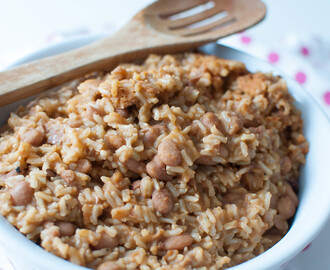 Dominican Stewed Beans with Rice