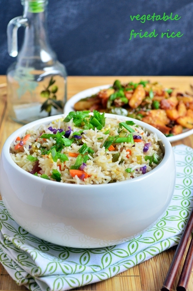 Vegetable fried rice recipe,how to make restaurant style veg fried rice