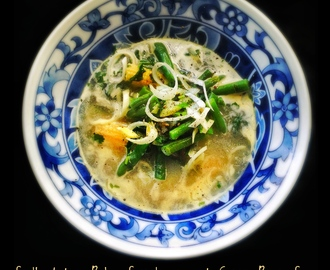 South Indian Baby Sweetcorn and Green Bean Soup
