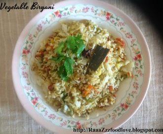 Vegetable Biryani with Leftover Rice