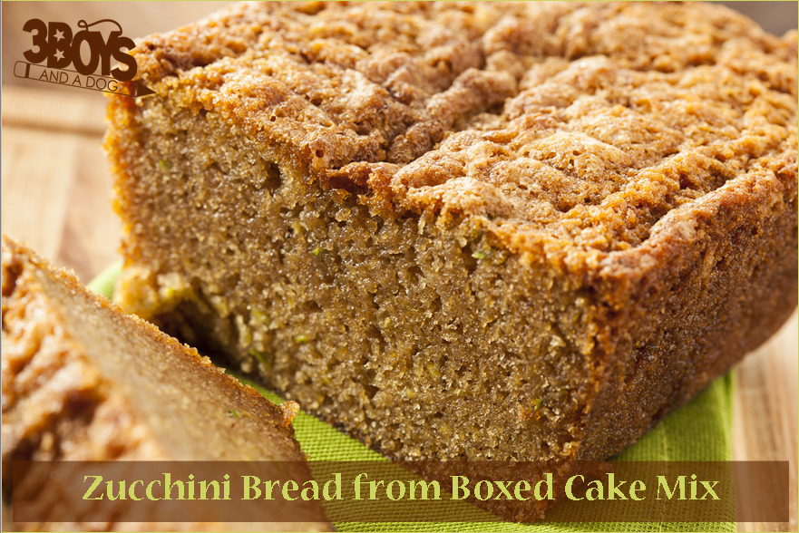 Easy Cake Mix Recipes:  Zucchini Bread