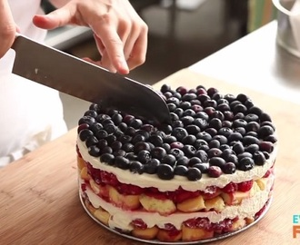 A delicious recipe for the summer heat: no-bake wild berry cake