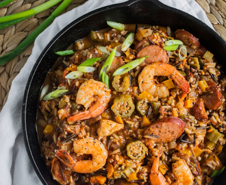 One-Pot Three-Rice Jambalaya