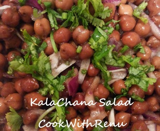 Kala Chana Chaat/Salad (Kala Chana / Black ChickPea / Bengal Gram)