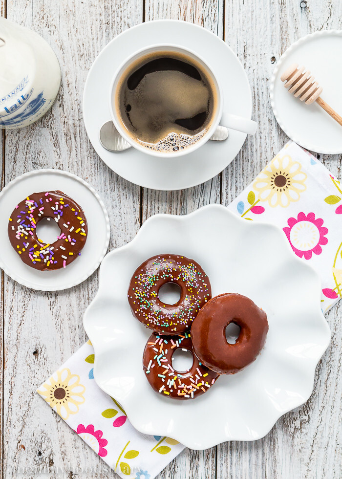 Eggless Chocolate Donuts + Giveaway