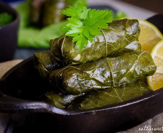 Ottolenghi's Stuffed Grape Leaves and The Importance of Suckitude