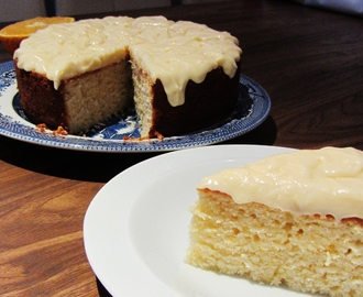 Orange Buttermilk Cake with Marmalade Cream Cheese Icing
