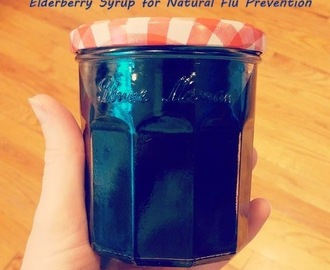 Homemade Elderberry Syrup, Natural Remedy for Cold and Flu Prevention