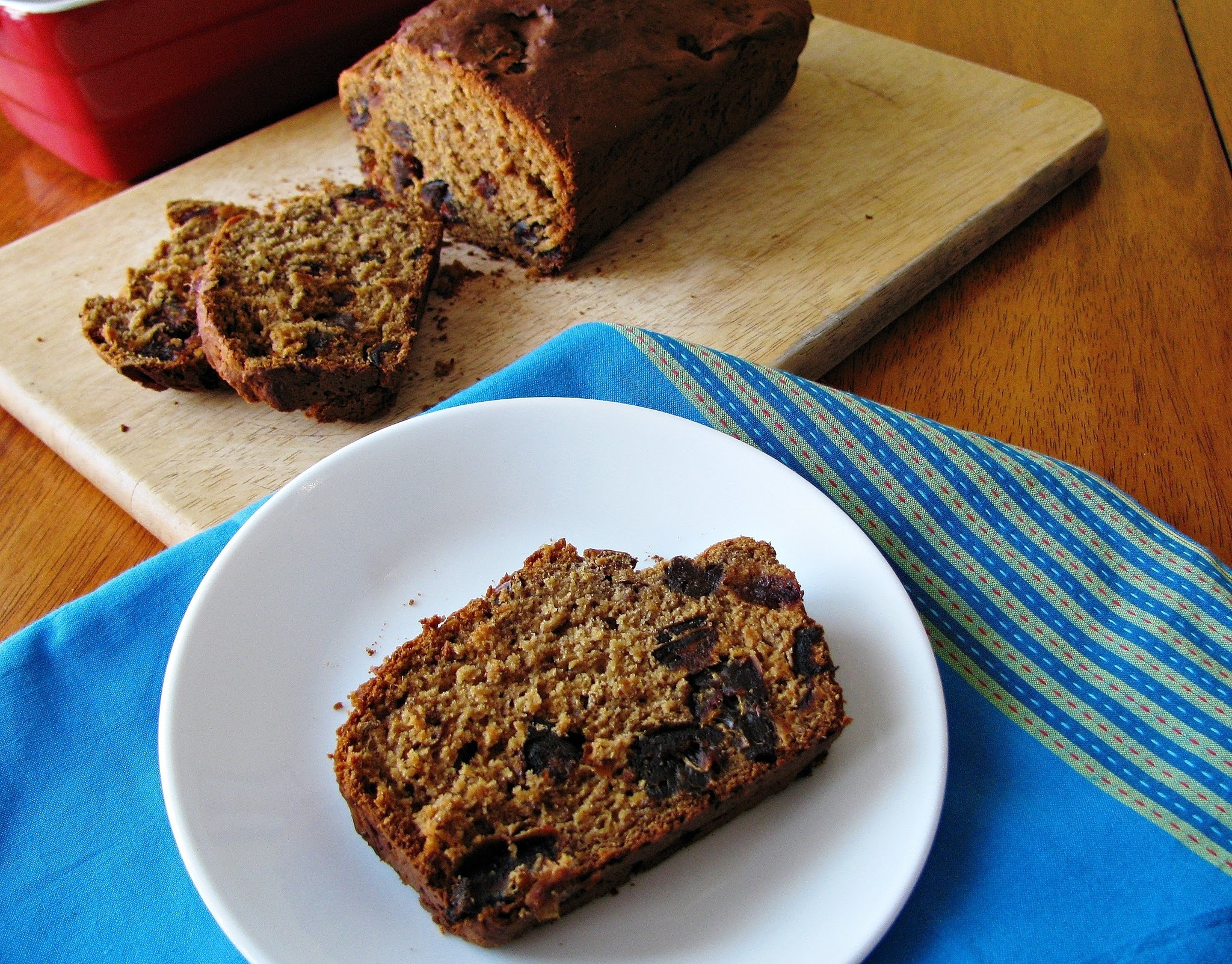 Gluten free date bread with ginger/Pain sans gluten aux dattes et au gingembre