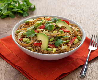 Chilled Noodle Salad with Ginger Wasabi Dressing – Cooking with Catelli