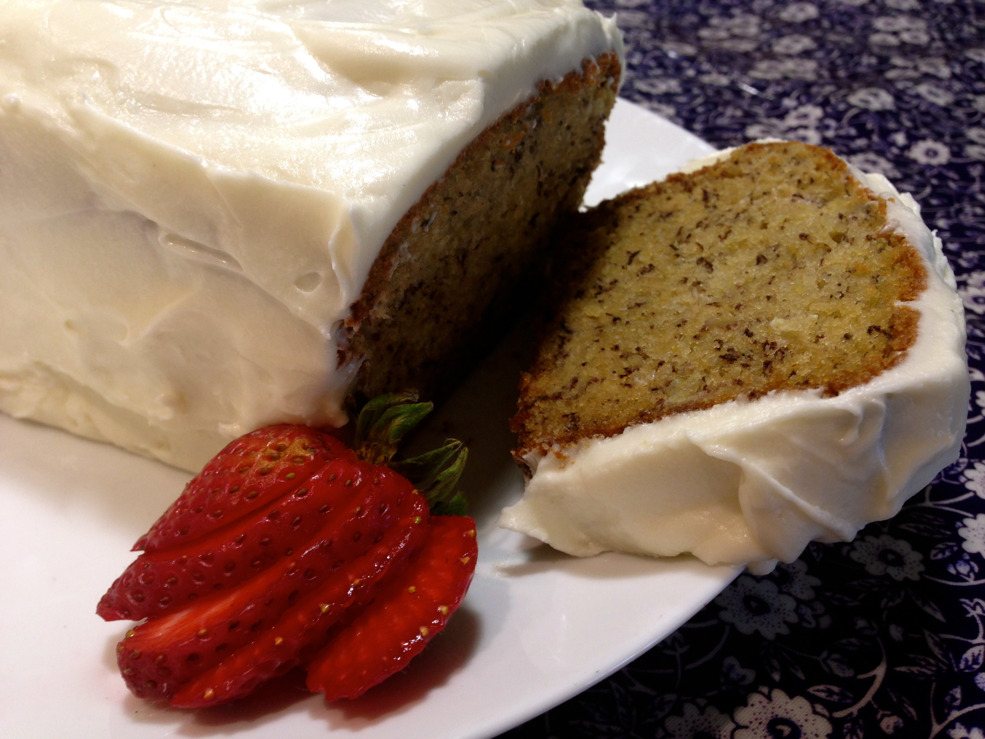 Banana Bread With Cream Cheese Frosting…
