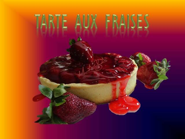 tarte  aux fraises facile /Easy Strawberry Pie