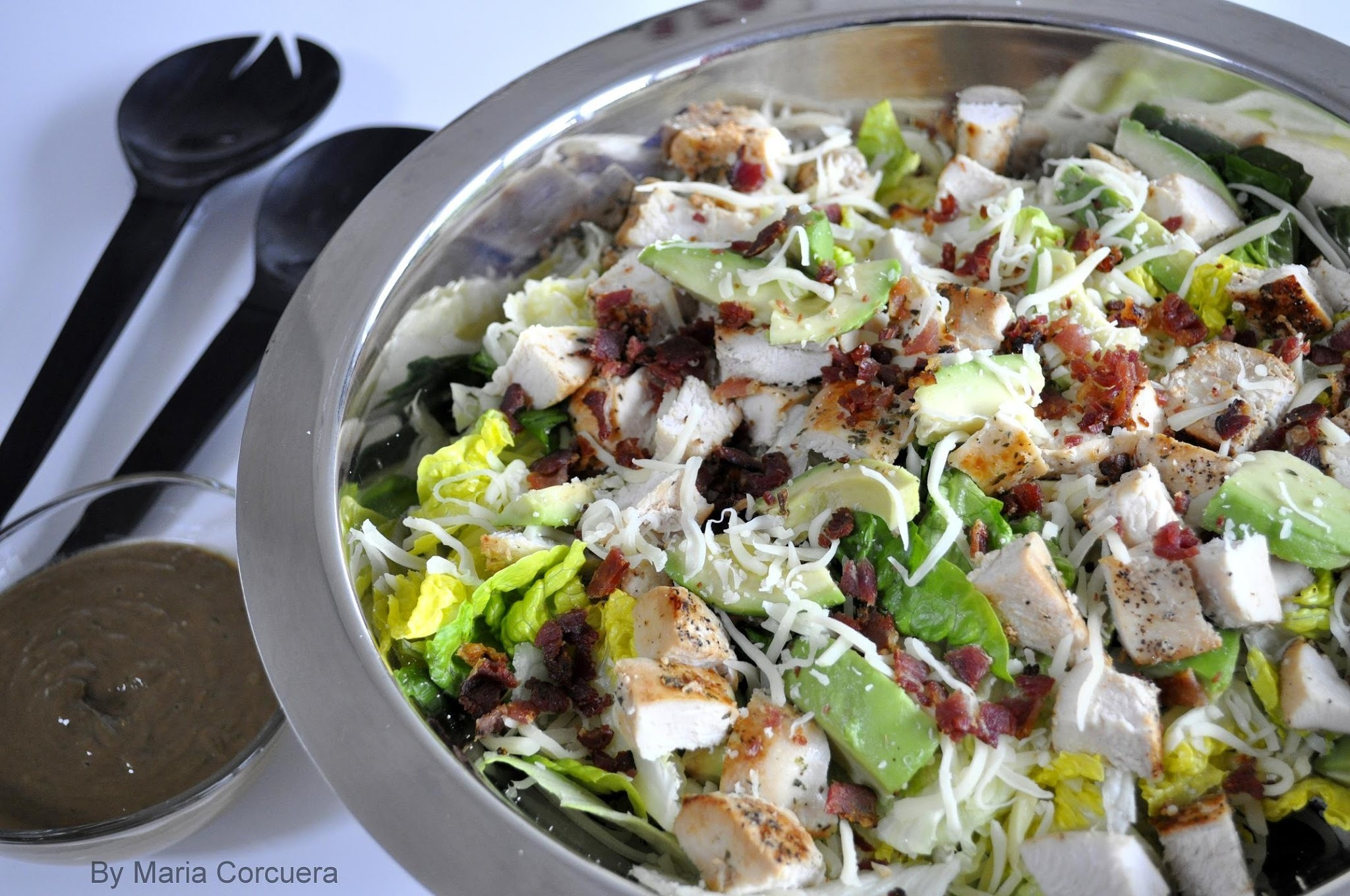 Chicken and Bacon Salad with Coriander & Avocado Vinaigrette
