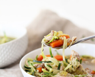 The Best Chicken Zucchini Noodle Soup, Ever!