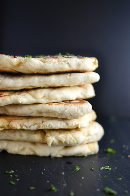 Homemade Naan {Indian Leavened Flatbread}