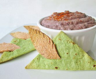 Peter Hats and Shadow Dip: Tortilla Chips with Black Bean Dip