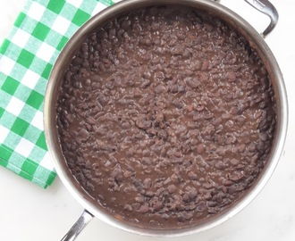 Refried Black Beans From Scratch