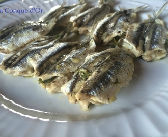 Anchois farcis au four