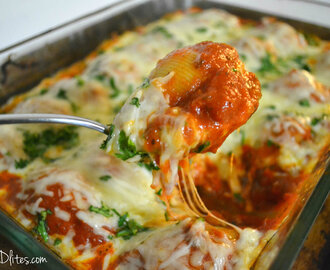 Chicken, Ricotta and Spinach Stuffed Shells